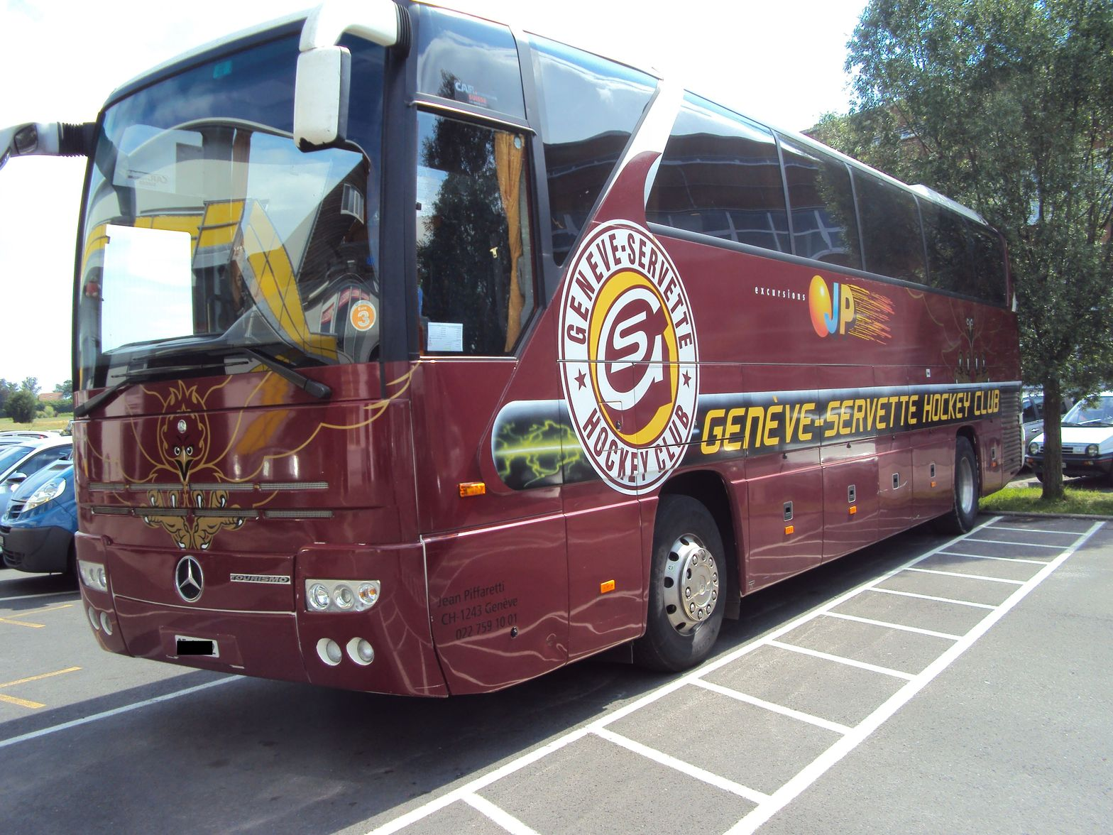 Mercedes Bus Du Geneve Servette Hockey Club Autobus Car