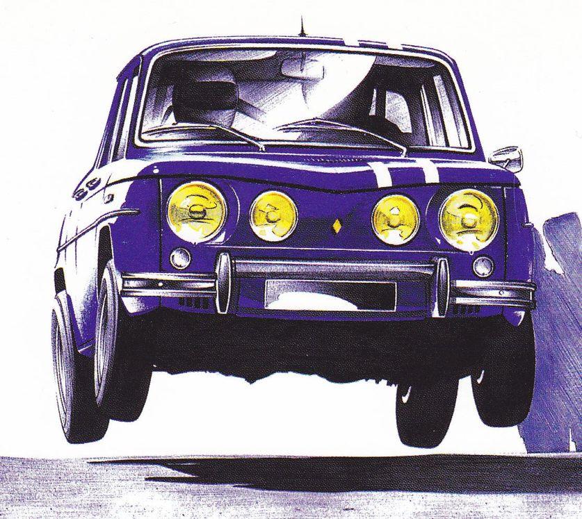 Renault 8 gordini france dessin de dessins peintures croquis sculptures - Dessin renault ...